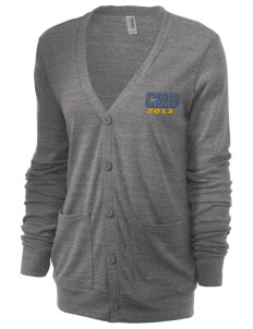 Clovis High School Cougars Unisex 5.6 oz Triblend Cardigan with Distressed Applique