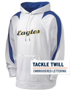Manteca Christian School Eagles Holloway Men's Sports Fleece Hooded Sweatshirt with Tackle Twill