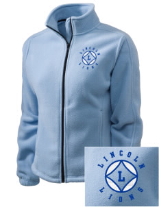Lincoln Elementary School Lions Embroidered Women's Fleece Full-Zip Jacket