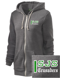 St. Joseph School Crusaders Embroidered Alternative Unisex The Rocky Eco-Fleece Hooded Sweatshirt