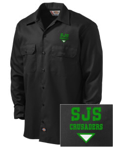 St. Joseph School Crusaders Embroidered Dickies Men's Long-Sleeve Workshirt