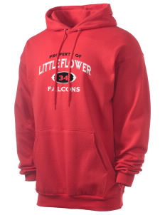 Little Flower Catholic School Falcons Men's 7.8 oz Lightweight Hooded Sweatshirt