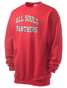 All Souls School Panthers Men's 7.8 oz Lightweight Crewneck Sweatshirt