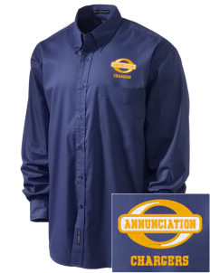 Annunciation Elementary School Chargers Embroidered Men's Easy-Care Shirt