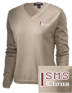 St. Mark School Lions Embroidered Women's V-Neck Sweater