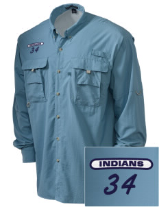 Our Lady Of Perpetual Help School Indians Embroidered Men's Explorer Shirt with Pockets