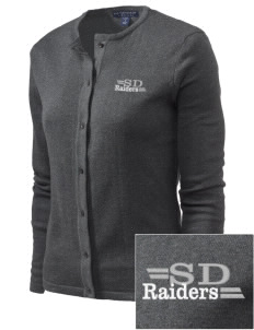 Saint Didacus Elementary School Raiders Embroidered Women's Cardigan Sweater