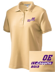 Onalaska Elementary Middle School Loggers Women's Embroidered Silk Touch Polo