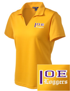 Onalaska Elementary Middle School Loggers Embroidered Women's Dri Mesh Polo