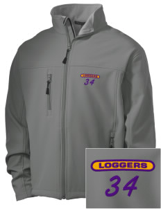 Onalaska Elementary Middle School Loggers Embroidered Men's Soft Shell Jacket