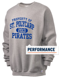 Saint Polycarp Elementary School Pirates  Russell Men's Dri-Power Crewneck Sweatshirt