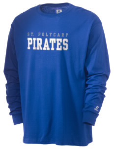 Saint Polycarp Elementary School Pirates  Russell Men's Long Sleeve T-Shirt