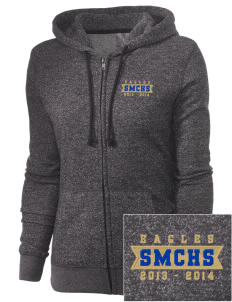 Santa Margarita Catholic High School Eagles Embroidered Women's Marled Full-Zip Hooded Sweatshirt