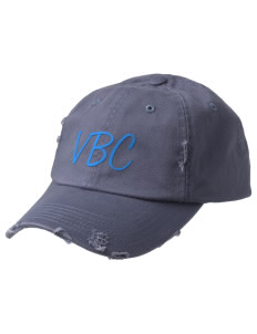 Vivian Banks Charter School Eagles Embroidered Distressed Cap