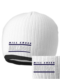 Mill Creek Middle School Bulldogs Embroidered Champion Striped Knit Beanie