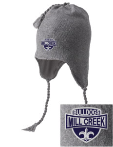 Mill Creek Middle School Bulldogs Embroidered Knit Hat with Earflaps
