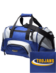 Saint John The Baptist School Trojans Embroidered Small Colorblock Duffel