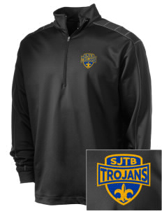 Saint John The Baptist School Trojans Embroidered Nike Men's Golf Dri-Fit 1/2 Zip