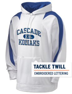 Cascade Middle School Kodiaks Holloway Men's Sports Fleece Hooded Sweatshirt with Tackle Twill