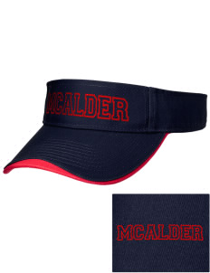 McAlder Elementary School Mustangs Embroidered Binding Visor