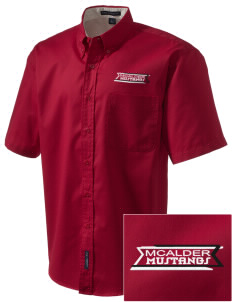 McAlder Elementary School Mustangs Embroidered Men's Easy Care Shirt