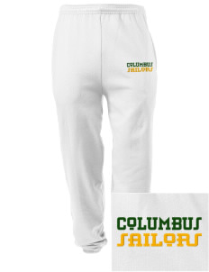Columbus High School Sailors Embroidered Men's Sweatpants with Pockets