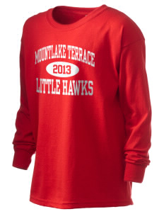 Mountlake Terrace Elementary School Little Hawks Kid's 6.1 oz Long Sleeve Ultra Cotton T-Shirt