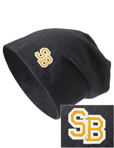 Saint Bernadette School Bulldogs Embroidered Slouch Beanie