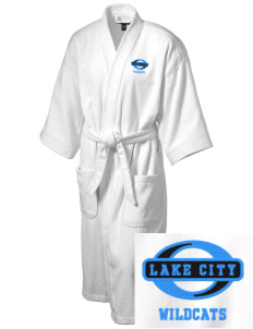Lake City Elementary School Wildcats Embroidered Terry Velour Robe