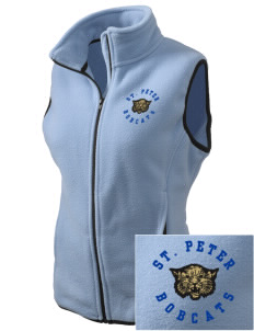 Saint Peter School Bobcats Embroidered Women's Fleece Vest