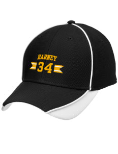Harney Elementary School Hornets Embroidered New Era Contrast Piped Performance Cap