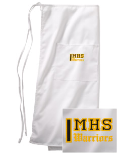 Marquette High School Warriors Embroidered Full Bistro Bib Apron