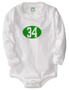 Saint Thomas Aquinas School Irish Shamrocks  Baby Long Sleeve 1-Piece with Shoulder Snaps