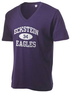 Eckstein Middle School Eagles Alternative Men's 3.7 oz Basic V-Neck T-Shirt
