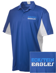 Eckstein Middle School Eagles Embroidered Men's Side Blocked Micro Pique Polo