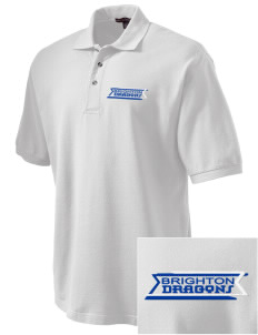 Brighton Elementary School Dragons Embroidered Tall Men's Pique Polo