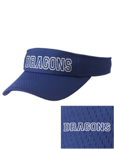 Brighton Elementary School Dragons Embroidered Woven Cotton Visor