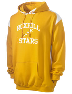Roxhill Elementary School Stars Men's Pullover Hooded Sweatshirt with Contrast Color