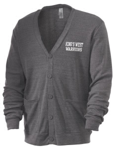 King's West School Warriors Men's 5.6 oz Triblend Cardigan