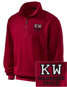King's West School Warriors Embroidered Men's 1/4-Zip Sweatshirt