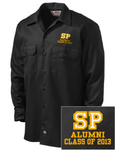 Saint Peter School Chargers Embroidered Dickies Men's Long-Sleeve Workshirt