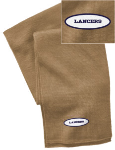 Our Lady Of Lord Saint James School Lancers  Embroidered Knitted Scarf
