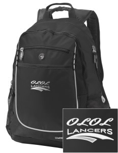 Our Lady Of Lord Saint James School Lancers Embroidered OGIO Carbon Backpack