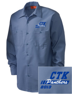Christ The King School Panthers Embroidered Men's Industrial Work Shirt - Regular