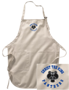 Christ The King School Panthers Embroidered Full-Length Apron with Pockets