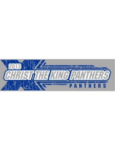 "Christ The King School Panthers Bumper Sticker 11"" x 3"""