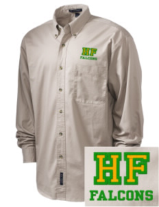 Holy Family School Falcons Embroidered Tall Men's Twill Shirt