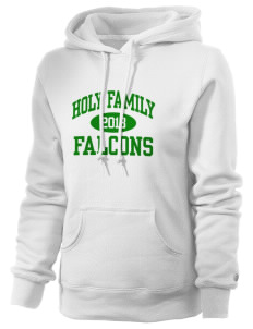Holy Family School Falcons Russell Women's Pro Cotton Fleece Hooded Sweatshirt