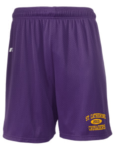 "Saint Catherine School Crusaders  Russell Men's Mesh Shorts, 7"" Inseam"