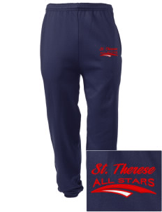 Saint Therese School All Stars Embroidered Men's Sweatpants with Pockets